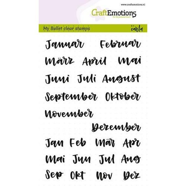 Craft Emotions Clearstamps Handlettering Bullet Journal Monate
