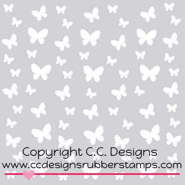 C.C. Designs Stencil Butterflies