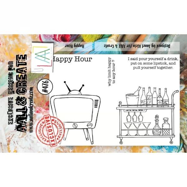 AALL & Create Clearstamps A7 No. 476 Happy Hour