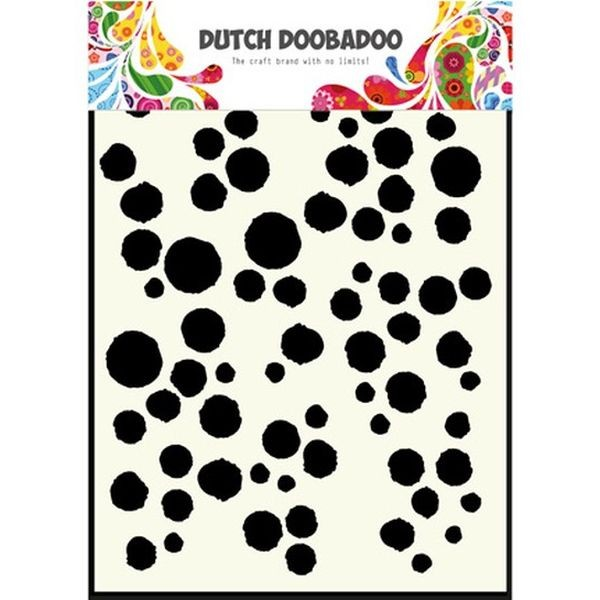 Dutch Doobadoo Mask Stencil A5 Grunge Dots