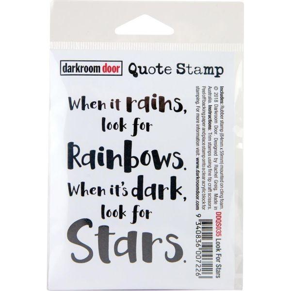Darkrrom Door Clingstamp Quote Stamp Look for Stars