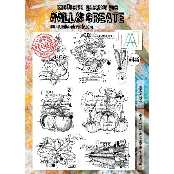 AALL & Create Clearstamps A4 No. 448 Basic Veggies