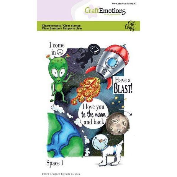 Craft Emotions Clearstamps Space I