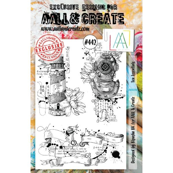 AALL & Create Clearstamps A5 No. 442 Sea Essentials