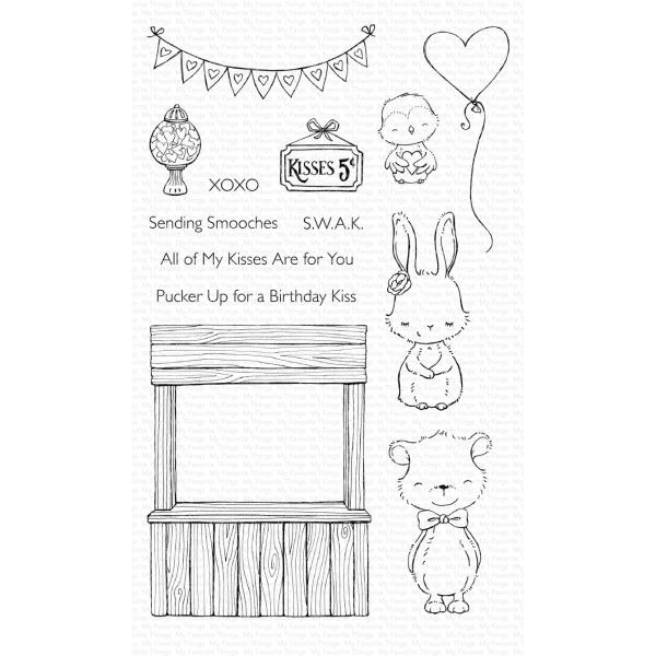 MFT Clearstamps Kissing Booth