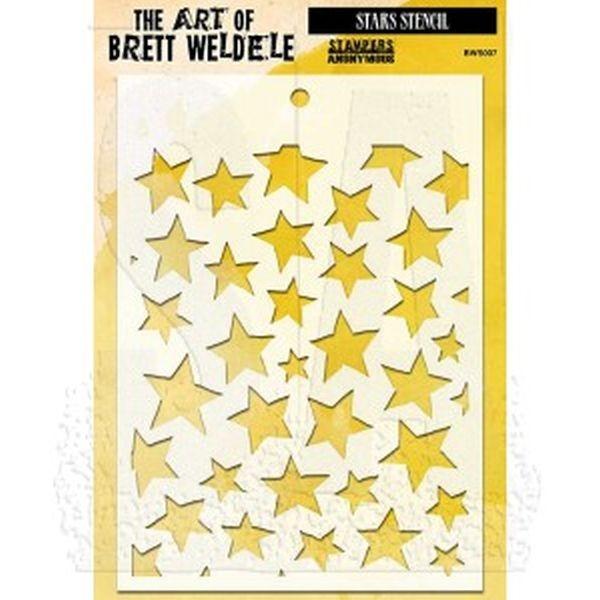The Art of Brett Weldele Stencil Stars