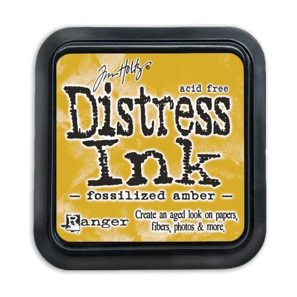 Distress Ink Mini Pad Fossilized Amber