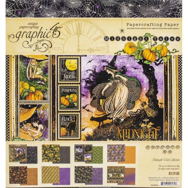Graphic 45 Midnight Tales Paper Pad 8x8
