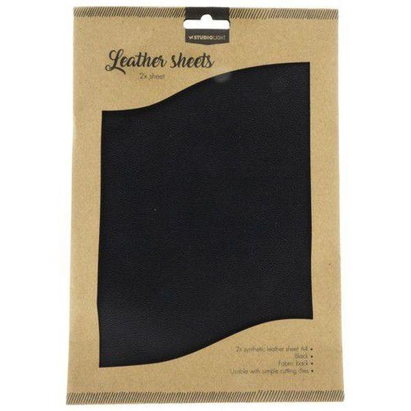 Studio Light Fake Leather Sheets Black