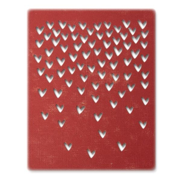 Tim Holtz Alterations Thinlits Falling Hearts