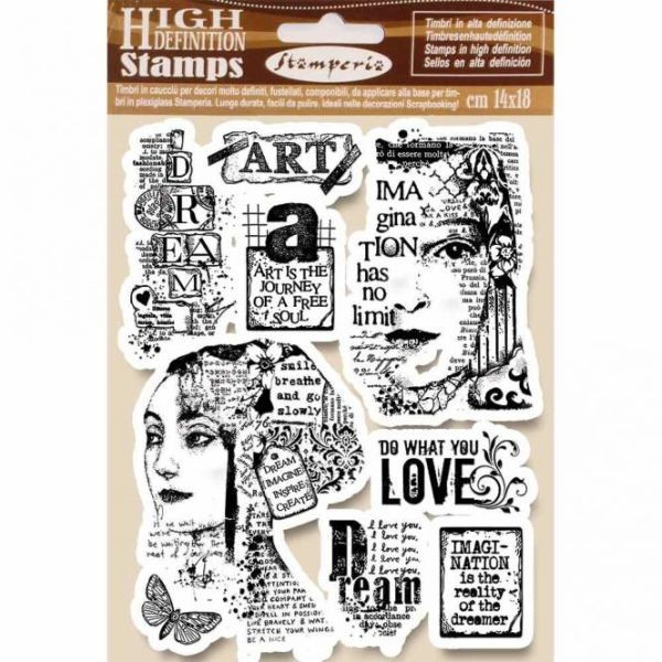 Stamperia Natural Rubber Stamp Art is the Journey