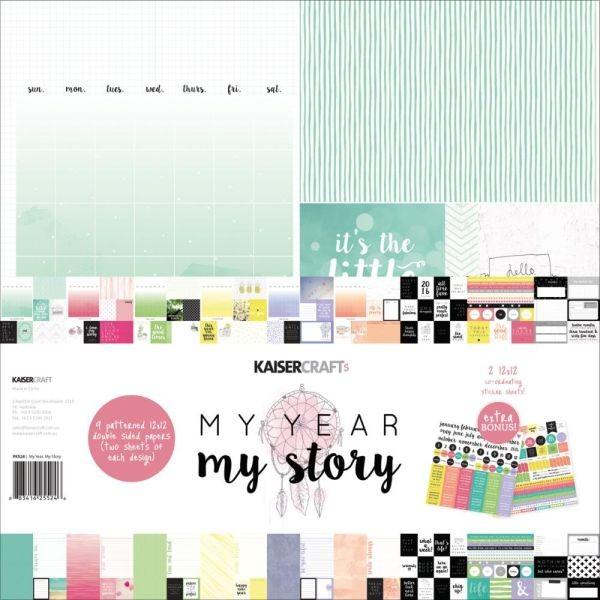 Kaisercraft Paper Pack 12x12 My Year, my Story