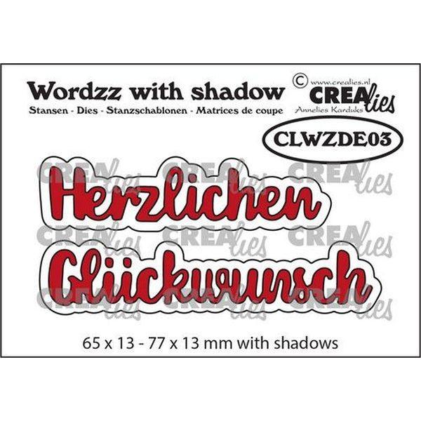 CreaLies Wordzz with Shadow No.03 Herzlichen Glückwunsch