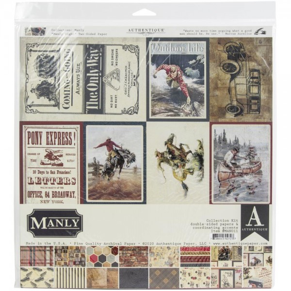 Authentiique Manly Collection Kit 12x12