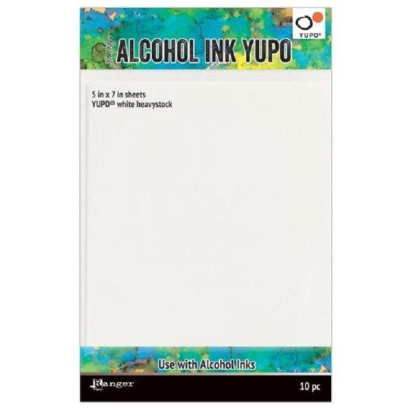 Tim Holtz Alcohol Ink Yupo Heavystock White 5x7