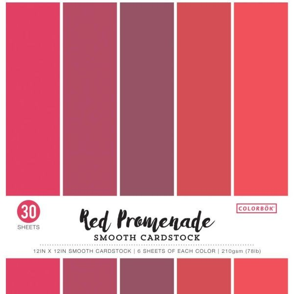 Colorbök Smooth Cardstock 12x12 Red Promenade