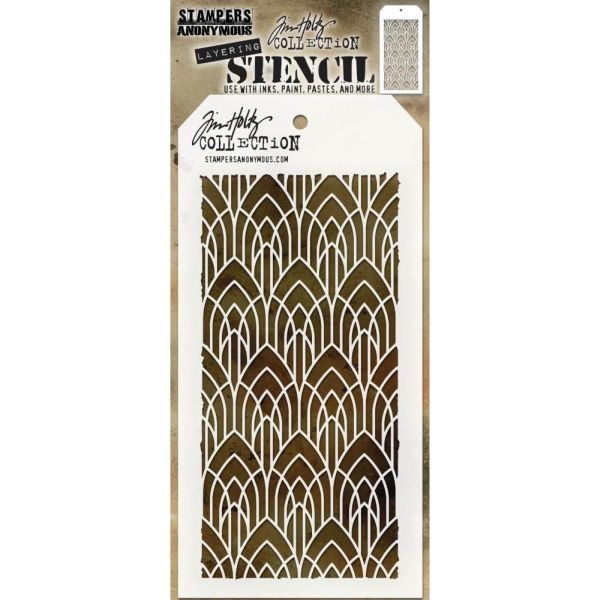 Tim Holtz Layering Stencils 147 Deco Arch Layered