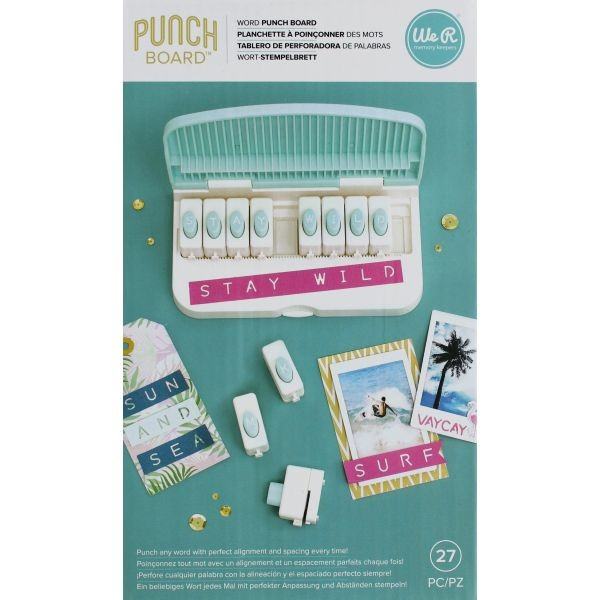 WeR Memory Keepers Word Punch Board