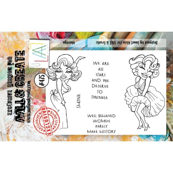 AALL & Create Clearstamps A7 No. 475 Marilyn