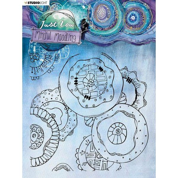 Studio Light Mindful Moodling Clearstamps 15x15 No. 47