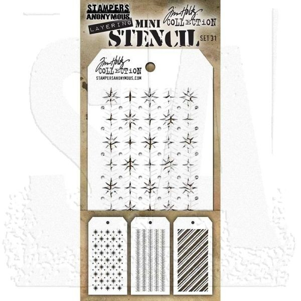 Tim Holtz Mini Stencil Set 031