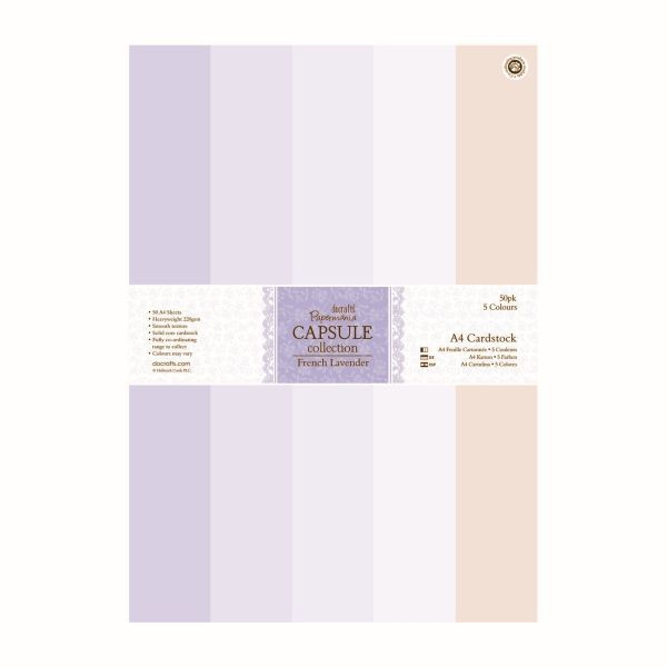 Papermania Capsule French Lavender Cardstock Pack A4