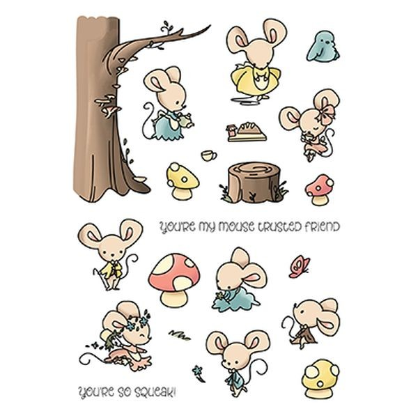 LDRS Creative Clearstamps Mouse Trusted Friends