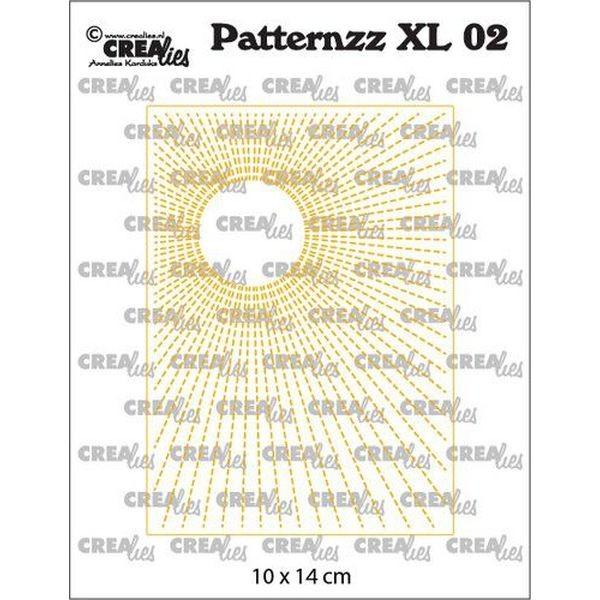 CreaLies Patternzz XL No. 02 Stitched Sun