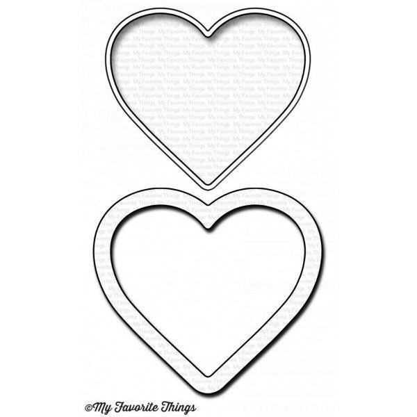 MFT Die-Namics Mini Heart Shaker Window & Frame