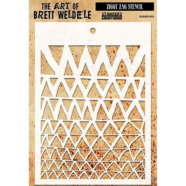 The Art of Brett Weldele Stencil Ziggy Zag