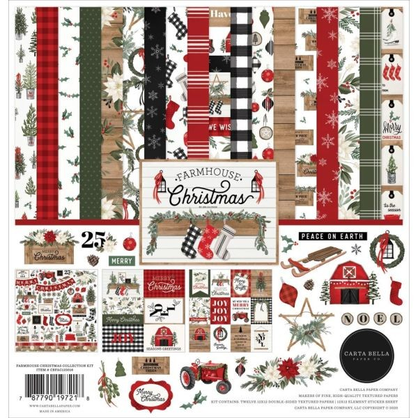 Carta Bella Farmhouse Christmas Collection Pack