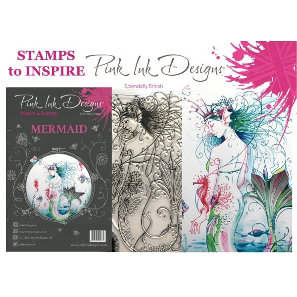 Pink Ink Designs Clearstamp Set Mermaid