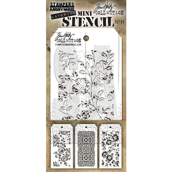 Tim Holtz Mini Stencil Set 025