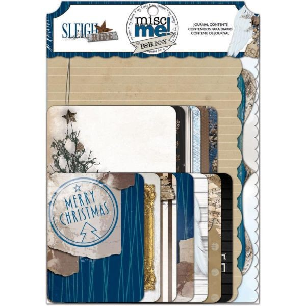 BoBunny Press Sleigh Ride Misc Me Journal Contends