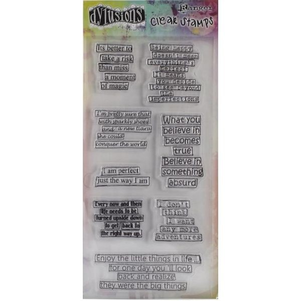 Dylusions Clearstamps Cleary Quotes