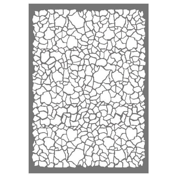 Stamperia Stencil A4 Crackle