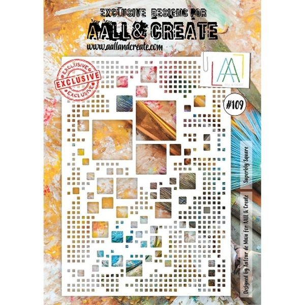 AALL & Create Stencil A4 No. 109 Superbly Square
