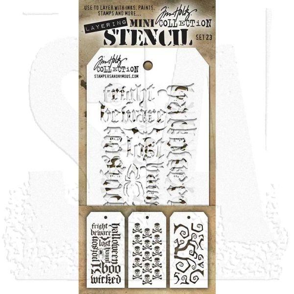 Tim Holtz Mini Stencil Set 023