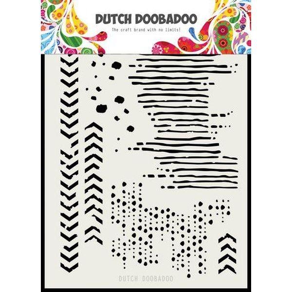 Dutch Doobadoo Mask Stencil A5 Grunge Mix