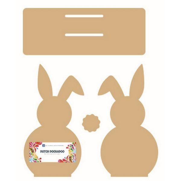 Dutch Doobadoo MDF Napkin Holder Bunny