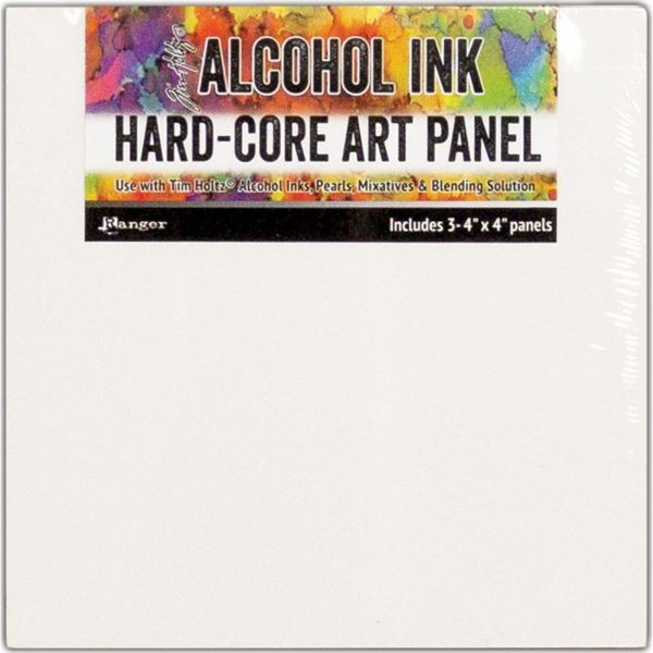 Tim Holtz Alcohol Ink Hard-Core Panels Square 4x4