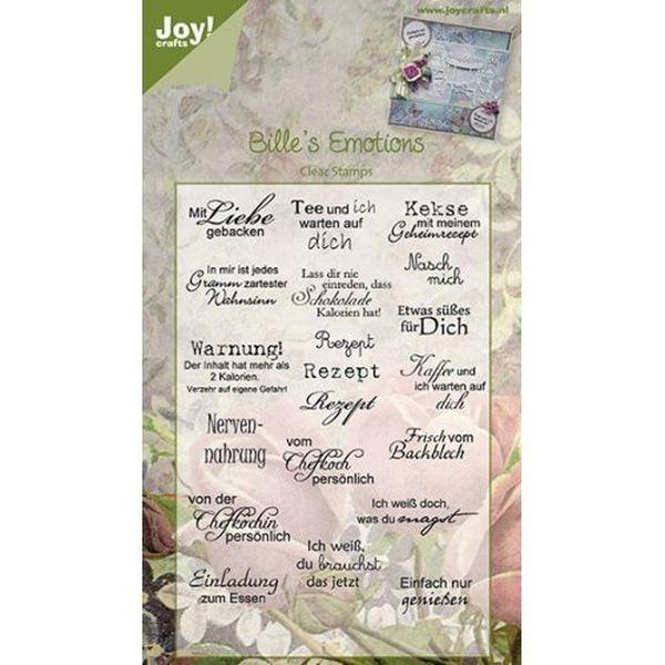 Joy! Crafts Clear Stamps Bille´s Emotions Mit Liebe gebacken