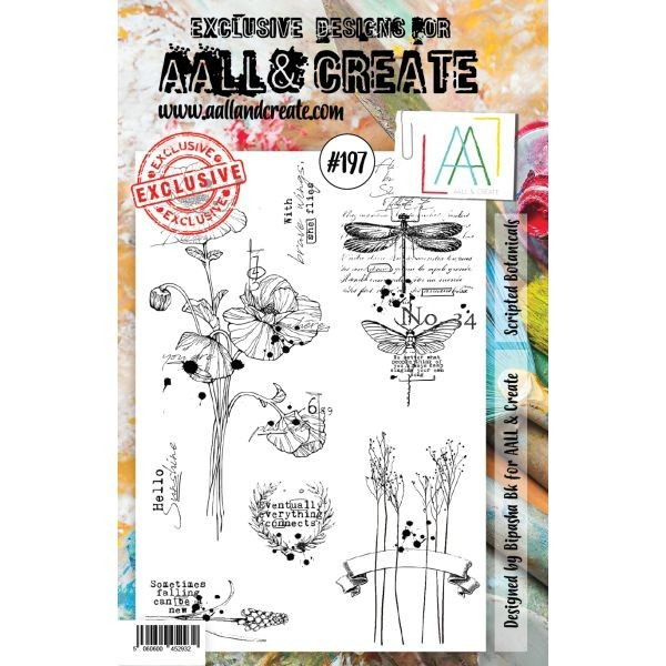 AALL & Create Clearstamps A5 No. 197 Scripted Botanicals