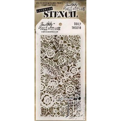 Tim Holtz Layering Stencils 018 Doily