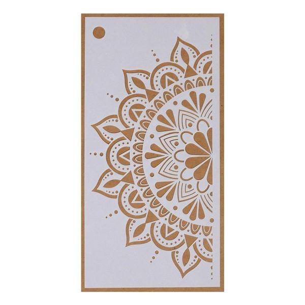 Elisabeth Craft Designs Stencil Art Jounal Spring Flower Mandala