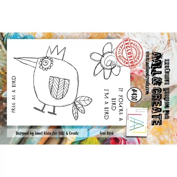AALL & Create Clearstamps A7 No. 430 Free Bird