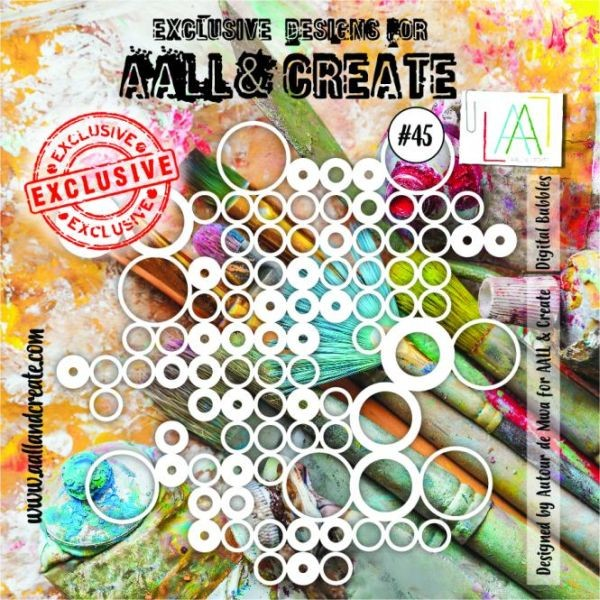 AALL & Create Stencil 6x6 No. 45 Digital Bubbles