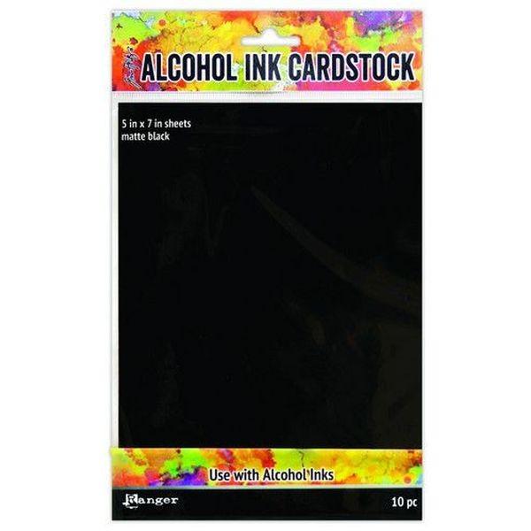 Tim Holtz Alcohol Ink Surfaces Matte Black 5x7