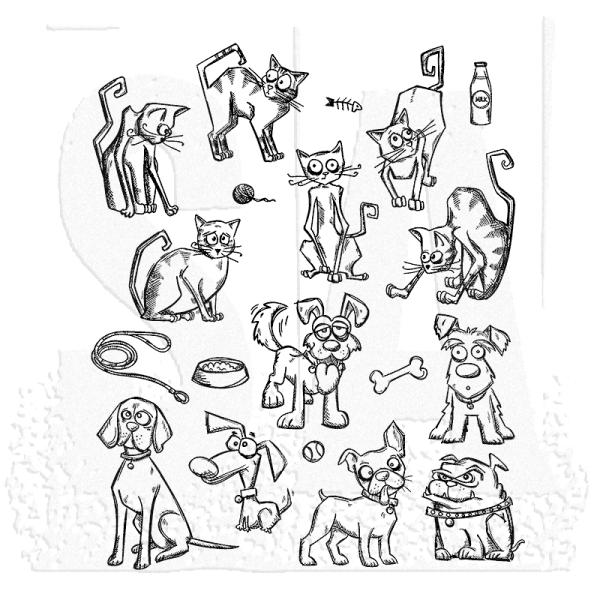 Tim Holtz Mini Cats & Dogs