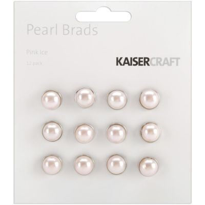 Kaisercraft Pearl Brads Pink Ice